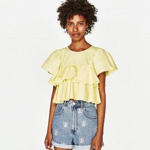 Shorts tejanos con flores bordadas de Zara (39,95 euros)