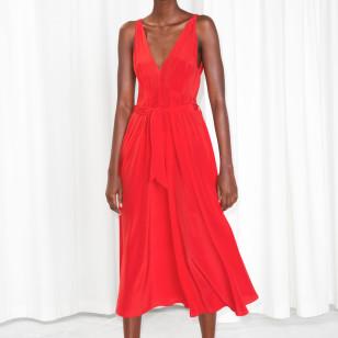 Vestido rojo de seda de & Other Stories  €125
