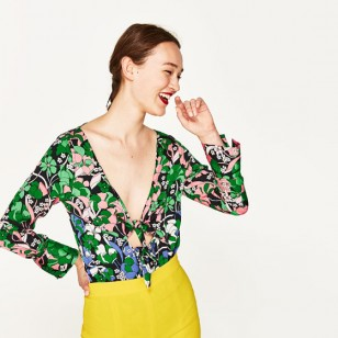 Tendencia tropical gipsy: body de Zara