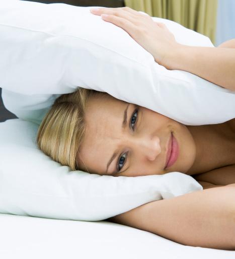 Una mujer, con insomnio