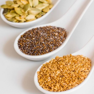 Cucharas con semillas de fibra