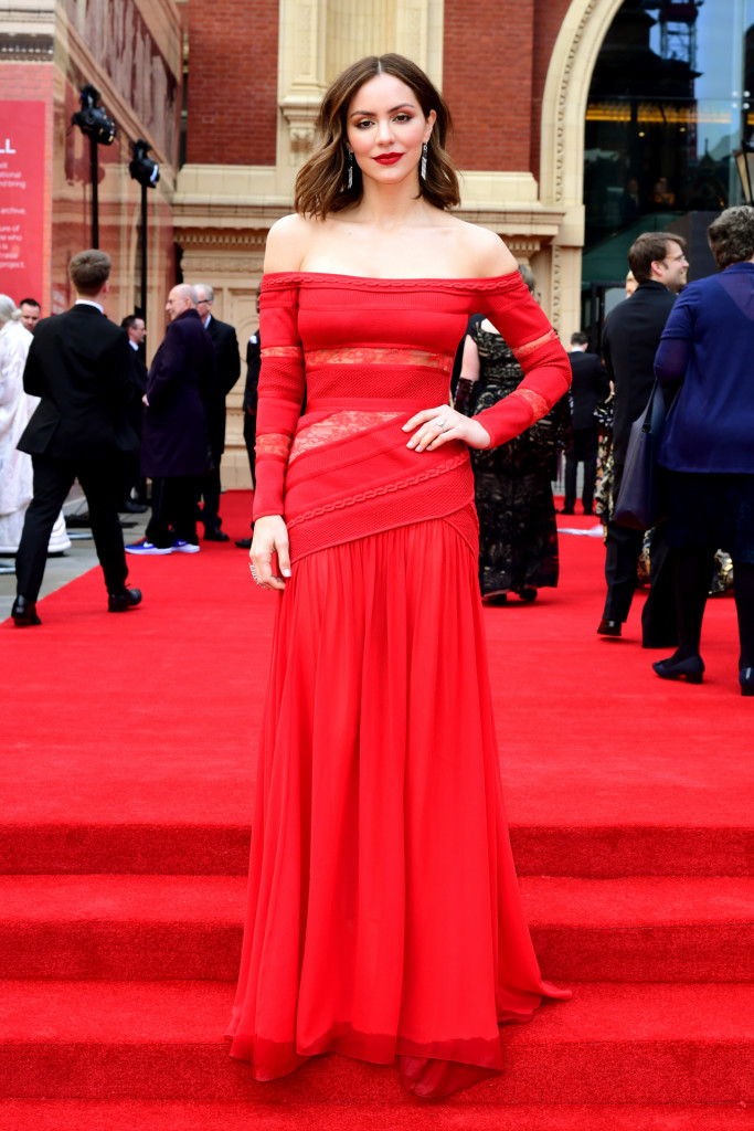 Singer Katharine McPhee attending the Laurence Olivier Awards in London. *** Local Caption *** .