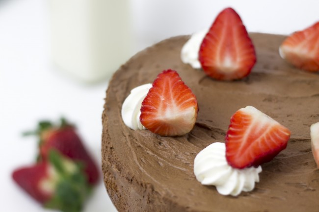Mousse de chocolate con fresas