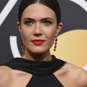 Singer Mandy Moore at the 75th annual Golden Globe Awards on Sunday, Jan. 7, 2018, in Beverly Hills, Calif.