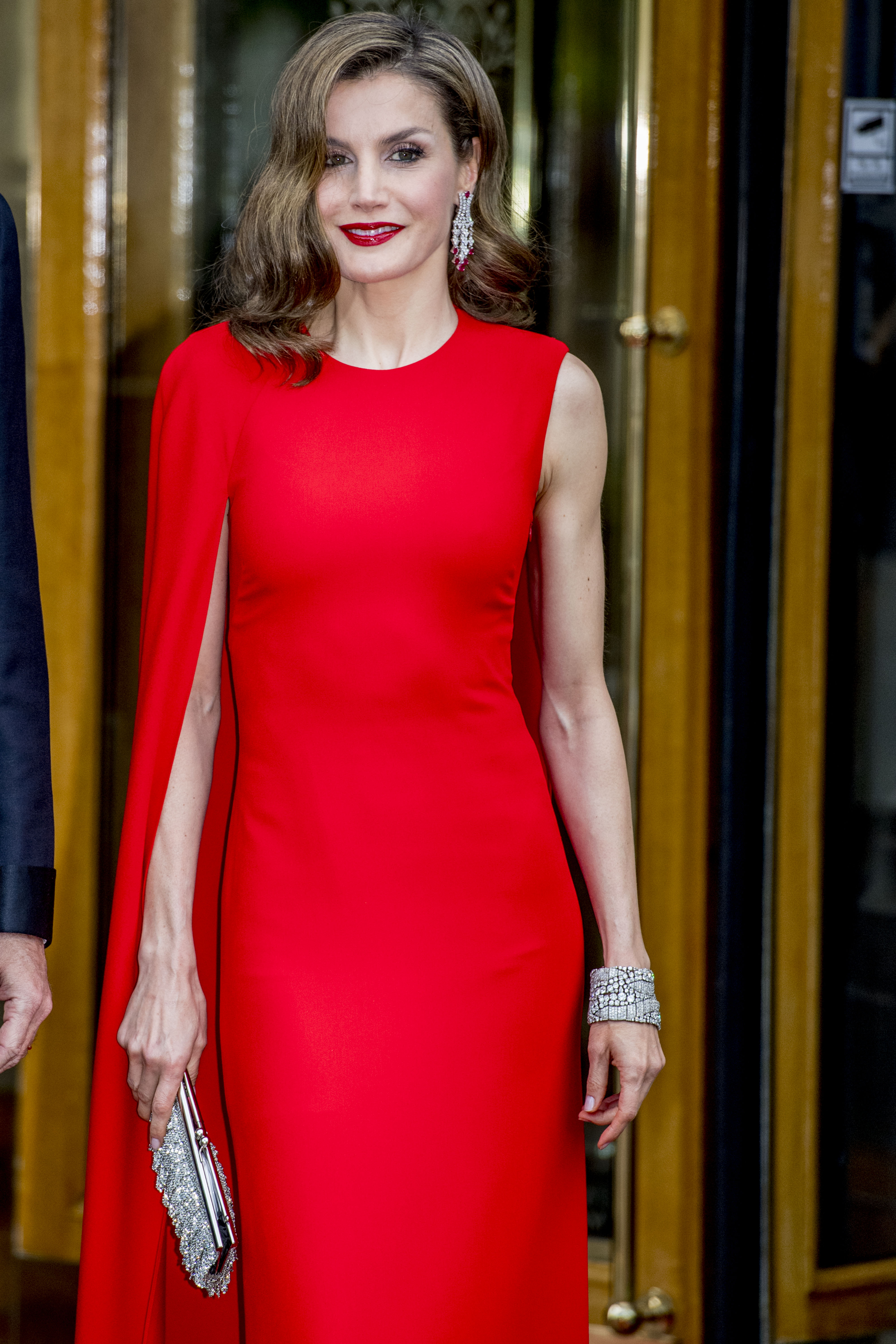 King felipe and queen letizia of Spain depart for the birthday party 50 years for king Willem Alexander
