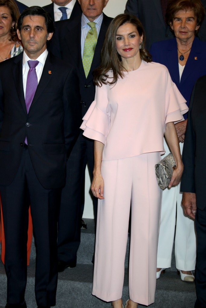 "Spanish Queen Letizia Ortiz with CEO Telefonica Jose Maria Alvarez Pallete during meeting with "" Patronato de la Fundacion de Ayuda contra la Drogadicción ( FAD ) "" in Madrid on Tuesday July 04, 2017"