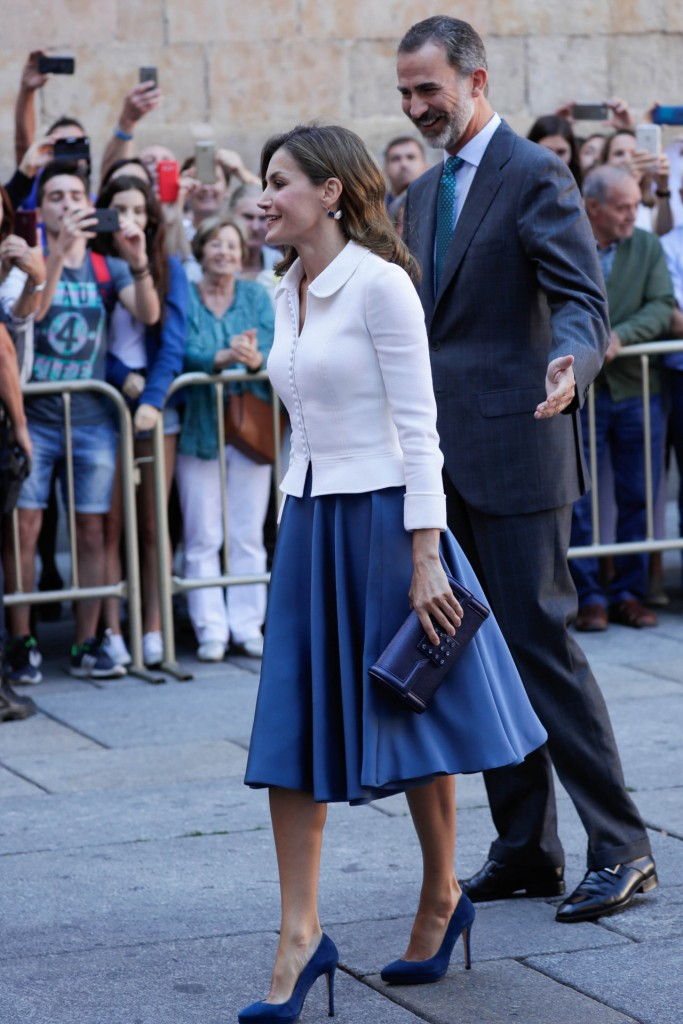Spanish Kings Felipe VI and Letizia Ortiz during inauguration of University Academic Year 2017/2018 in Salamanca on Thursday on 14 September 2017.