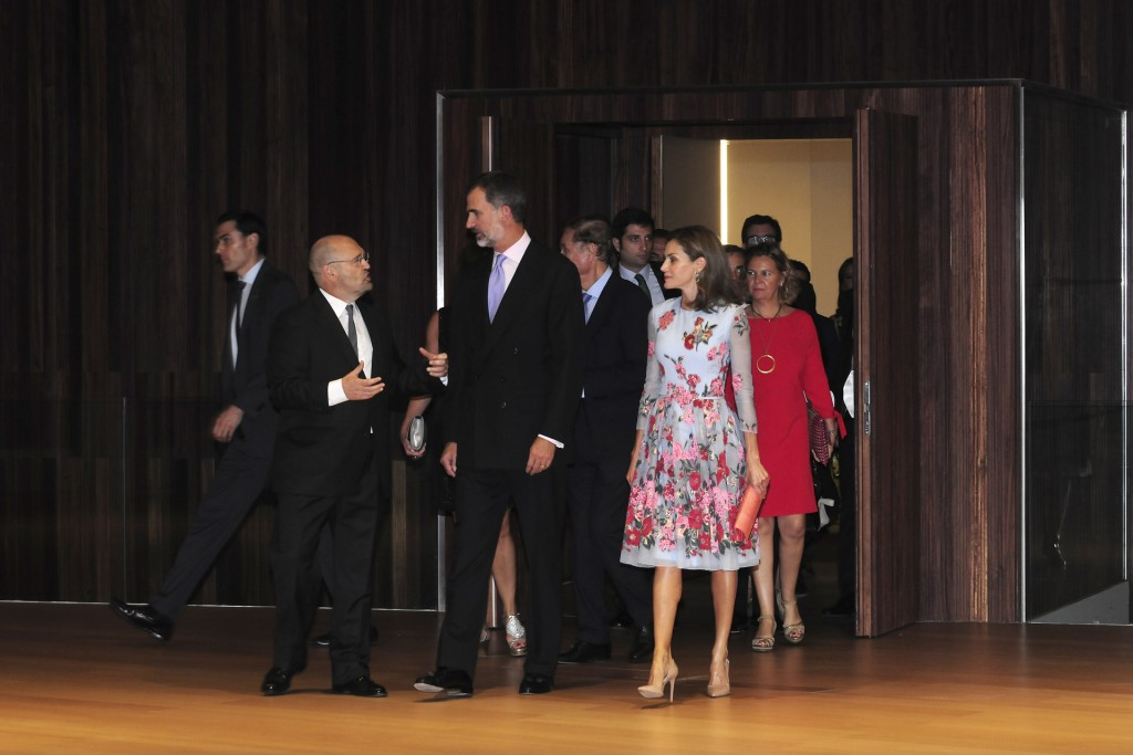 Spanish Kings Felipe VI and Letizia during the inauguration of the new Palace of Congresses of Palma de Mallorca on Monday 25 September 2017.