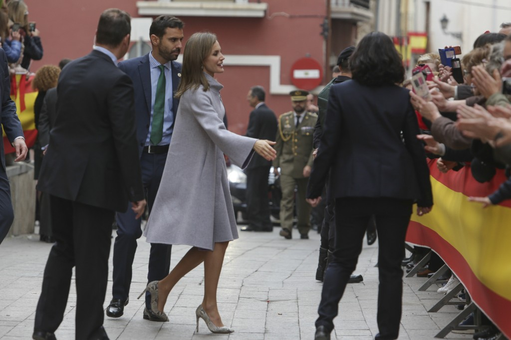 Queen Letizia during visit to RealBasilica Santuario de la Vera Cruz on occasion of the Caravaca de la Cruz jubilee year on Tuesday 28 November 2017 , Murcia.