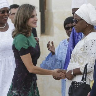 "Spanish Queen Letizia Ortiz visits "" Cruz Roja Senegal "" during her official visit to Senegal on Tuesday 12 December 2017."