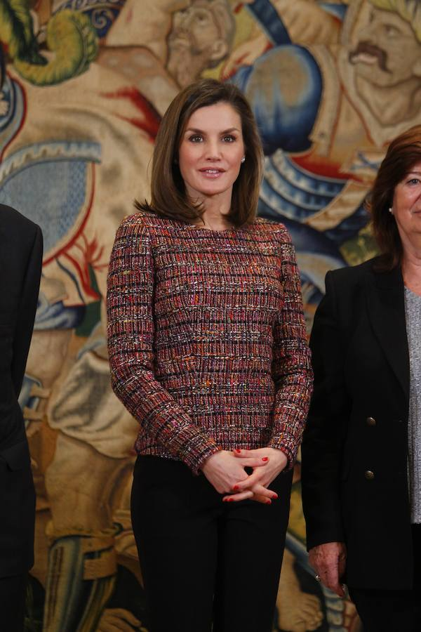 El top tweed de Letizia