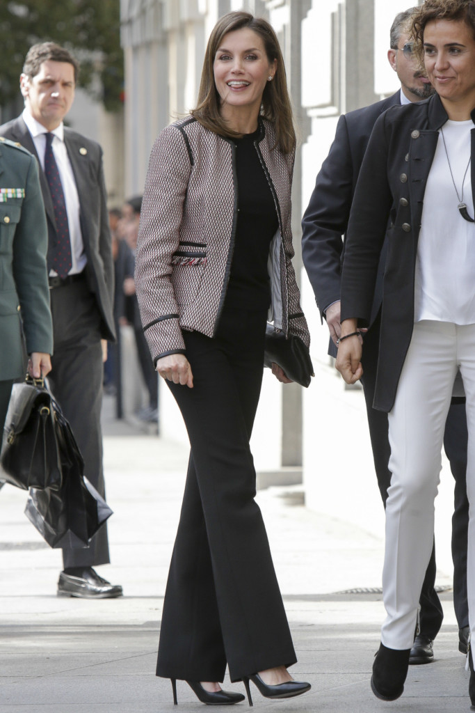 Spanish Queen Letizia Ortiz during 2 edition of act ''Tratamiento informativo de la discapacidad en redes sociales' in Madrid Thursday, 5 April 2018