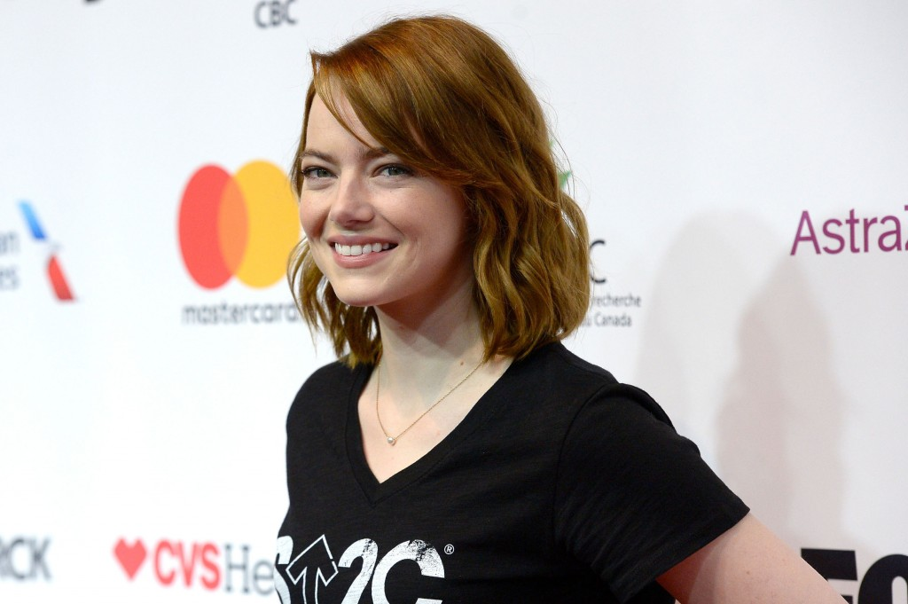 LOS ANGELES, CA - SEPTEMBER 09:  Actress Emma Stone attends Hollywood Unites for the 5th Biennial Stand Up To Cancer (SU2C), A Program of The Entertainment Industry Foundation (EIF) at Walt Disney Concert Hall on September 9, 2016 in Los Angeles, California.  (Photo by Kevork Djansezian/Getty Images)