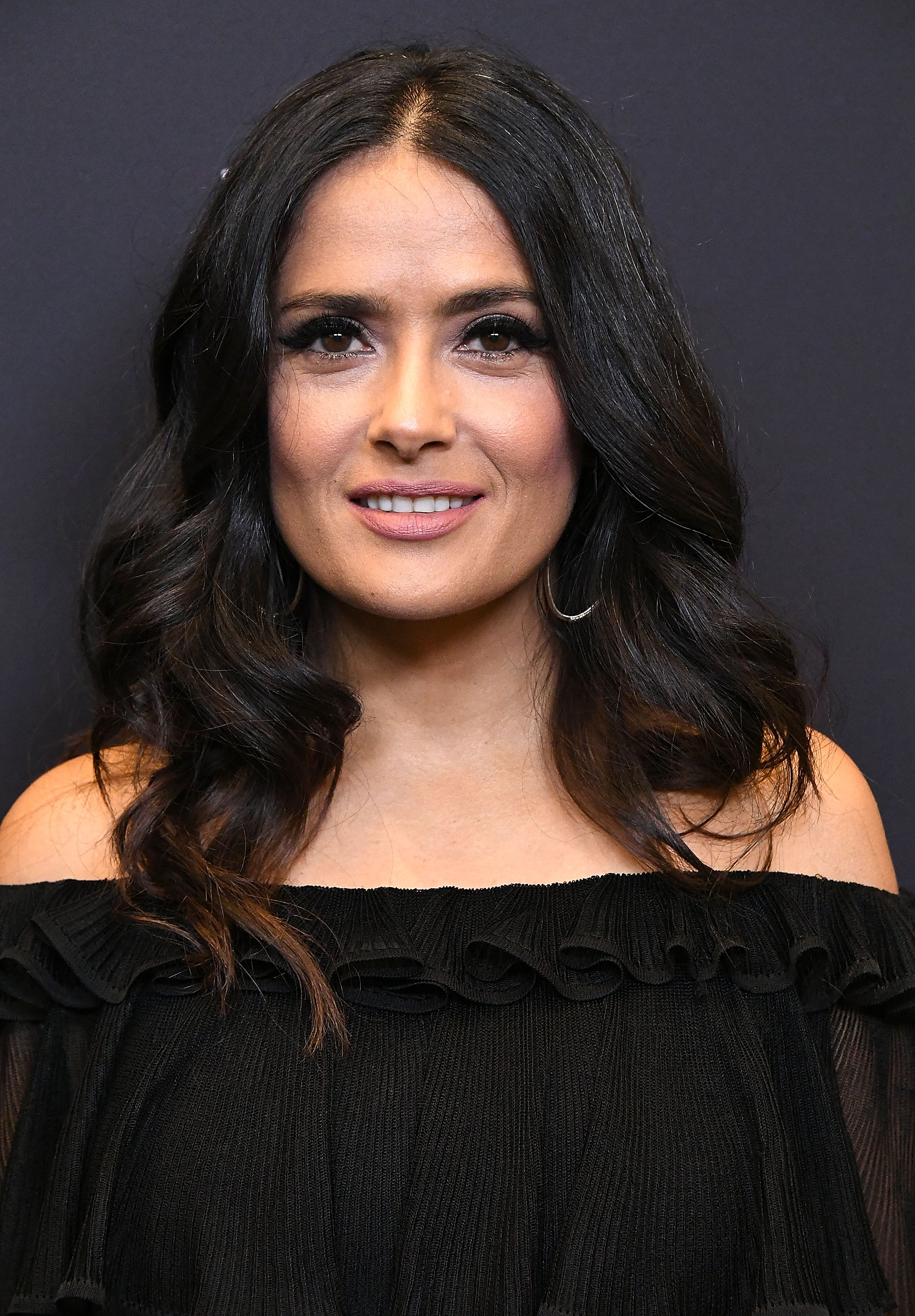 WEST HOLLYWOOD, CA - NOVEMBER 15: Salma Hayek arrives at the Hollywood Foreign Press Association And InStyle Celebrate The 75th Anniversary Of The Golden Globe Awards at Catch LA on November 15, 2017 in West Hollywood, California. (Photo by Steve Granitz/WireImage)