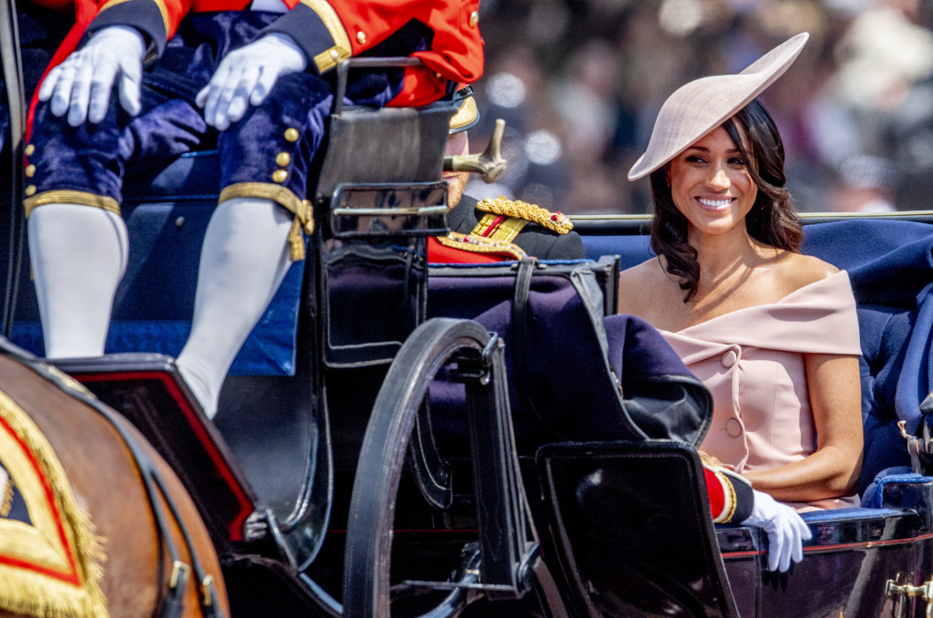 Meghan Markle attending Trooping The Colour, London.  *** Local Caption *** .
