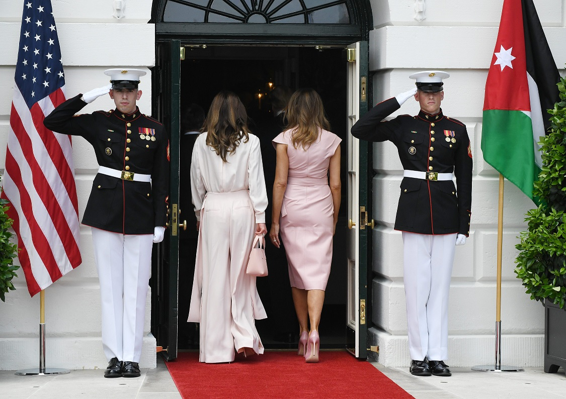Melania Trump y Rania de Jordania./ Cordon Press
