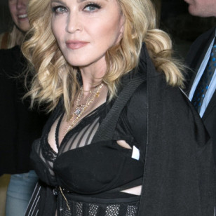 Singer Madonna at AlexanderWang during New York Fashion Week 2016