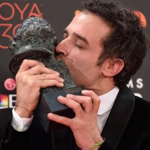 Daniel Guzmán con el Goya