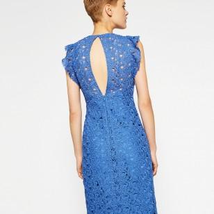 Vestido azul de Zara