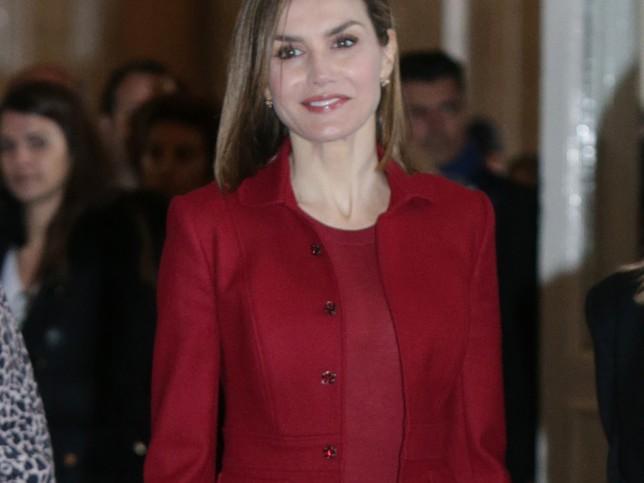 Doña Letizia, con traje de Felipe Varela