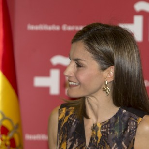 Letizia, con 'total look' de Hugo Boss