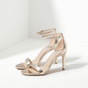 Sandalias doradas de Massimo Dutti