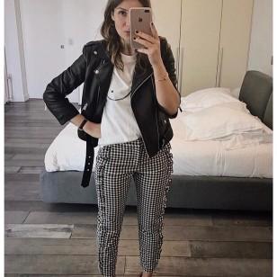 Pantalón con estampado vichy de Zara (Foto: @ingrid_leonie)