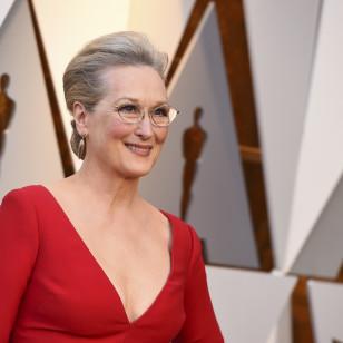 Meryl Streep con mauqillaje de noche de piel madura
